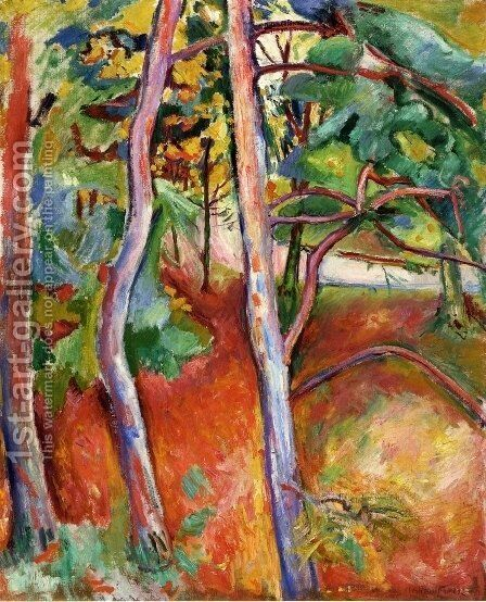 Trees, Autumn by Emile-Othon Friesz - Reproduction Oil Painting