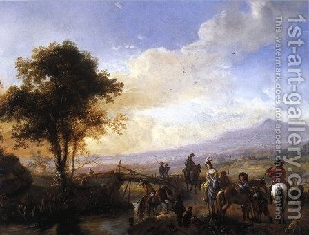 A Hawking Party by Philips Wouwerman - Reproduction Oil Painting
