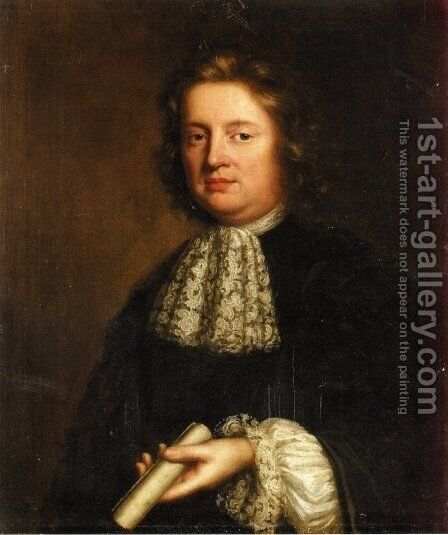 Portrait of a Gentleman by Mary Beale - Reproduction Oil Painting