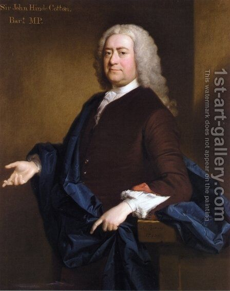 Portrait of Sir John Hynde Cotton, 3rd BT. by Allan Ramsay - Reproduction Oil Painting