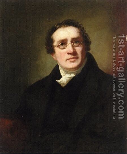 Portrait of Professor George Joseph Bell (1770 - 1843) by Sir Henry Raeburn - Reproduction Oil Painting