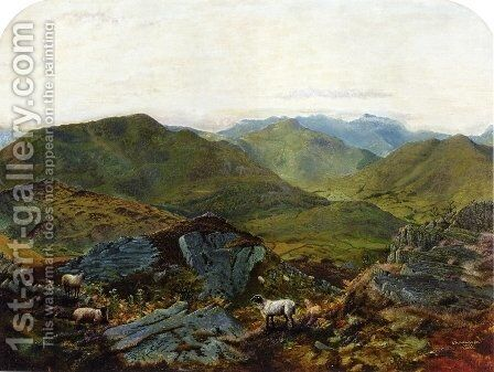 Landscape in the Lake District by John Atkinson Grimshaw - Reproduction Oil Painting