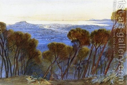 A Distant View of Nice from the Hills by Edward Lear - Reproduction Oil Painting