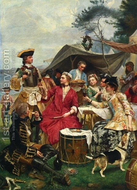 Welcome by Gustave Jean Jacquet - Reproduction Oil Painting