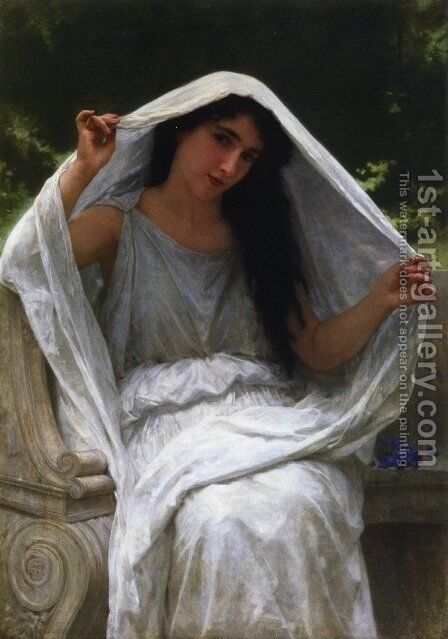 The Veil by William-Adolphe Bouguereau - Reproduction Oil Painting