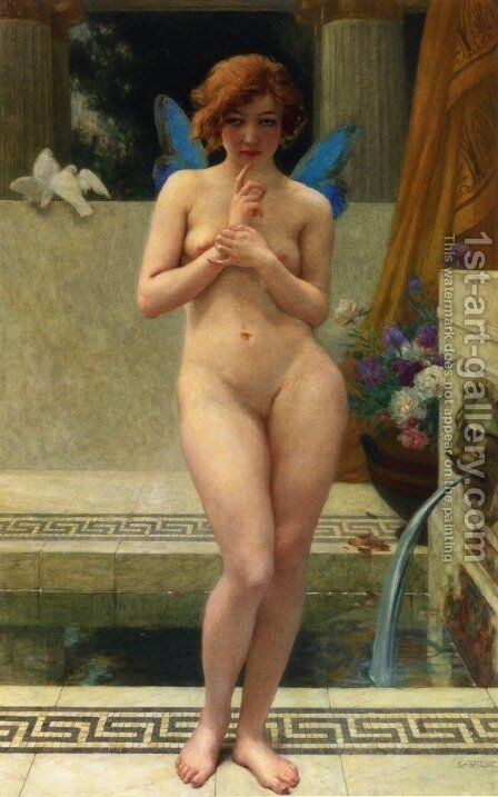 Psyche at a Fountain by Guillaume Seignac - Reproduction Oil Painting