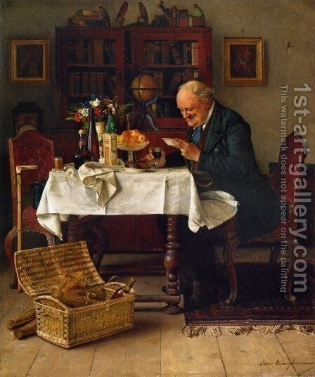 The Bachelor's Birthday by Isidor Kaufmann - Reproduction Oil Painting