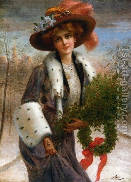 Seasons Greetings by Emile Vernon - Reproduction Oil Painting