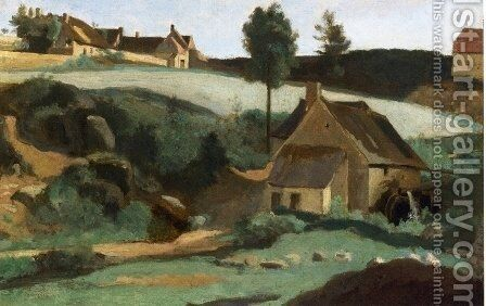 Morvan, The Little Mill by Jean-Baptiste-Camille Corot - Reproduction Oil Painting