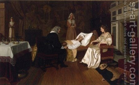 Witness My Act and Seal by Edmund Blair Blair Leighton - Reproduction Oil Painting