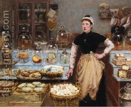 The Cheese Vendor I by Edouard-Jean Dambourgez - Reproduction Oil Painting