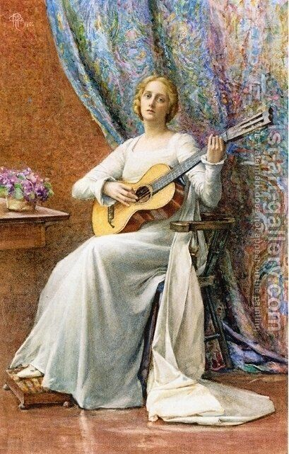 Melody by Henry Maynell Rheam - Reproduction Oil Painting