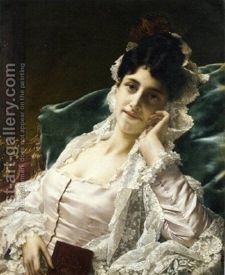 Idle Thoughts by Jan Frederik Pieter Portielje - Reproduction Oil Painting