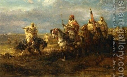 The Messenger by Adolf Schreyer - Reproduction Oil Painting