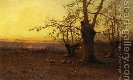 A Spring Evening, Burnham Beeches by Alfred de Breanski - Reproduction Oil Painting