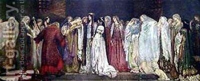 Castle of Maidens by Edwin Austin Abbey - Reproduction Oil Painting