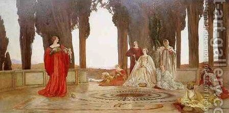 Fiammetta's Song by Edwin Austin Abbey - Reproduction Oil Painting
