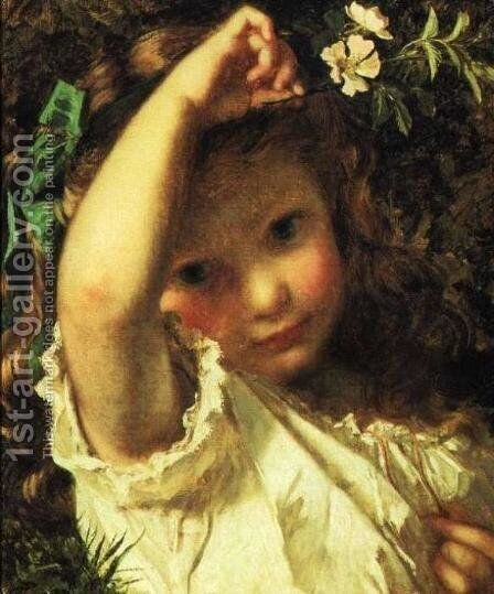 Peek-A-Boo! by Sophie Gengembre Anderson - Reproduction Oil Painting