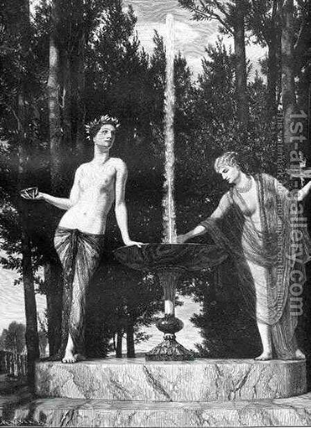 The Muses by Arnold Böcklin - Reproduction Oil Painting