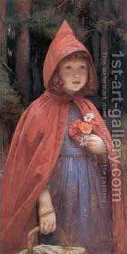 Little Red Riding Hood by Edward Frederick Brewtnall - Reproduction Oil Painting