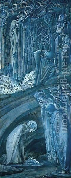 Nativity by Sir Edward Coley Burne-Jones - Reproduction Oil Painting