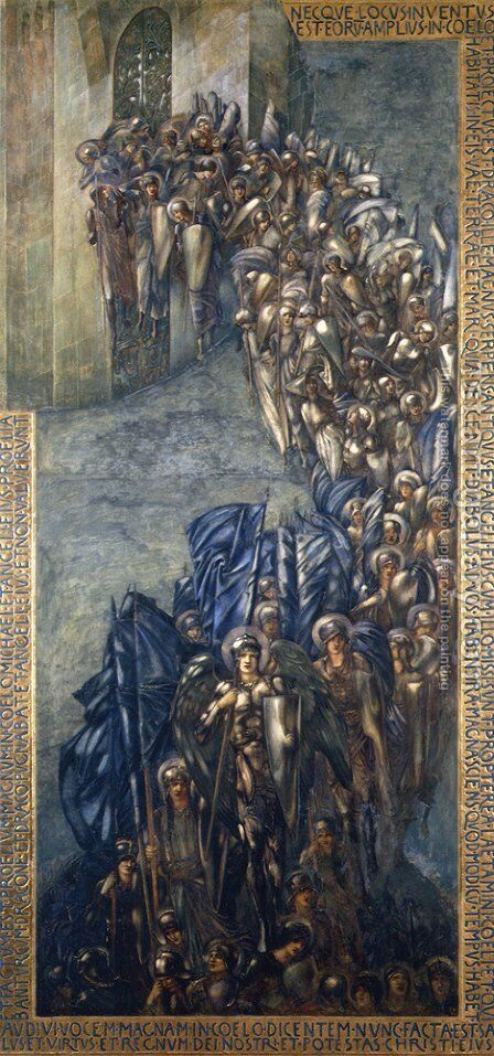 The Fall of Lucifer by Sir Edward Coley Burne-Jones - Reproduction Oil Painting