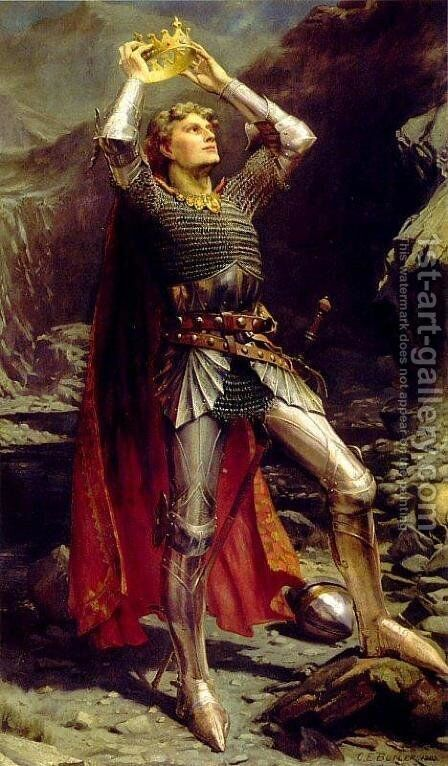 King Arthur by Charles Ernest Butler - Reproduction Oil Painting