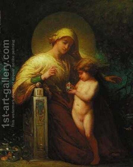 Madonna and Child by Elliott Dangerfield - Reproduction Oil Painting