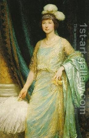 Mrs. Norman Holbrook by Sir Frank Dicksee - Reproduction Oil Painting