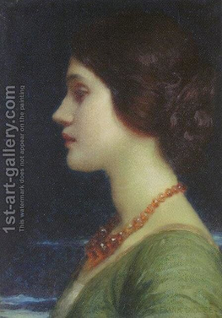 Portrait of Dora by Sir Thomas Francis Dicksee - Reproduction Oil Painting