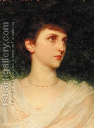 Portrait of Maude Moore by Sir Thomas Francis Dicksee - Reproduction Oil Painting