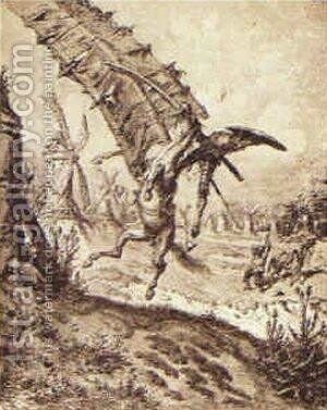 Don Quixote and the Windmill by Gustave Dore - Reproduction Oil Painting