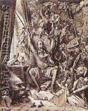 Don Quixote in his Library by Gustave Dore - Reproduction Oil Painting