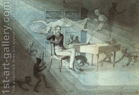 Self-Portrait, a Meditation by Charles Altamont Doyle - Reproduction Oil Painting