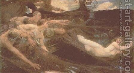The Sea Maiden by Herbert James Draper - Reproduction Oil Painting