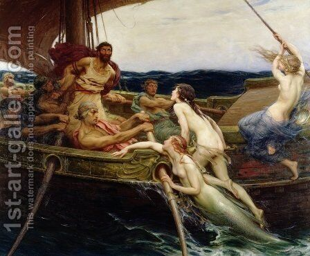 Ulysses and the Sirens by Herbert James Draper - Reproduction Oil Painting