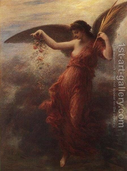 Immortality by Ignace Henri Jean Fantin-Latour - Reproduction Oil Painting