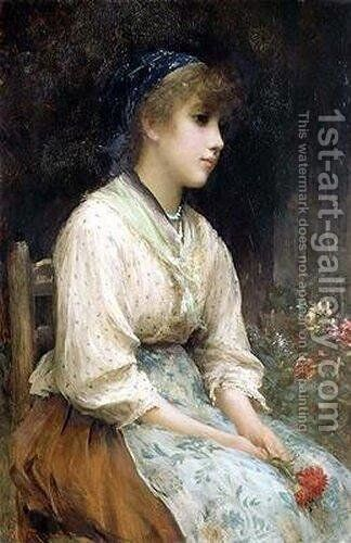 A Venetian Flower Girl by Sir Samuel Luke Fildes - Reproduction Oil Painting