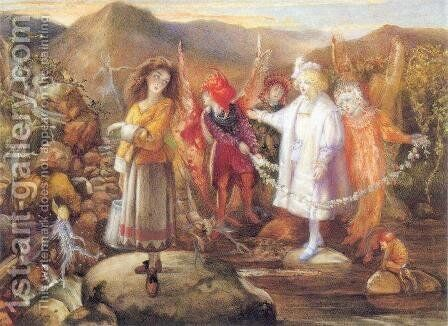 In Fairyland by John Anster Fitzgerald - Reproduction Oil Painting