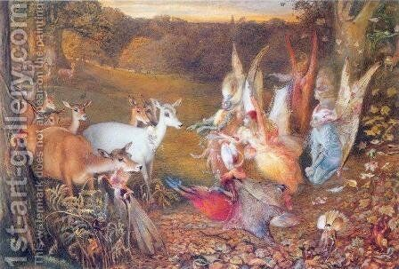 The Enchanted Forest by John Anster Fitzgerald - Reproduction Oil Painting