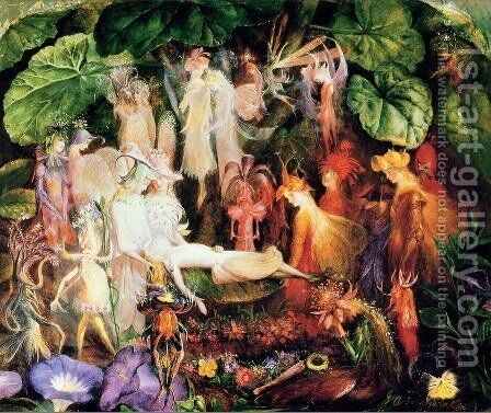 The Fairy's Funeral by John Anster Fitzgerald - Reproduction Oil Painting