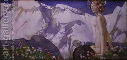 Flora of the Alps by Edward Reginald Frampton - Reproduction Oil Painting