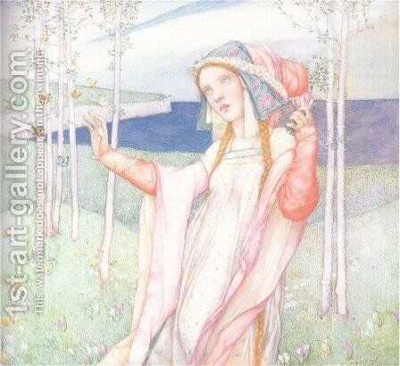 Spring by Edward Reginald Frampton - Reproduction Oil Painting