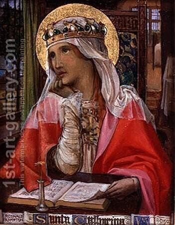 St Catherine by Edward Reginald Frampton - Reproduction Oil Painting