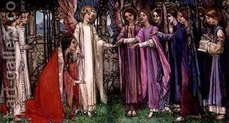 St. Catherine by Edward Reginald Frampton - Reproduction Oil Painting