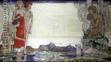 The Voice of Pan by Edward Reginald Frampton - Reproduction Oil Painting