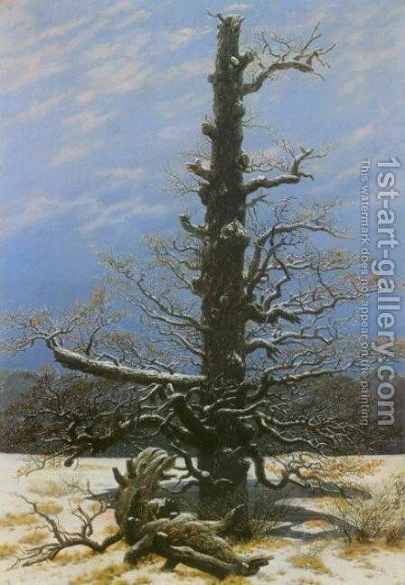 Oak Tree in the Snow by Caspar David Friedrich - Reproduction Oil Painting