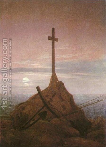 The Cross on the Baltic by Caspar David Friedrich - Reproduction Oil Painting