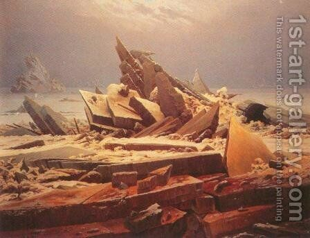 The Polar Sea by Caspar David Friedrich - Reproduction Oil Painting