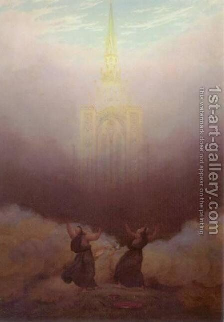 Vision of the Christian Church by Caspar David Friedrich - Reproduction Oil Painting